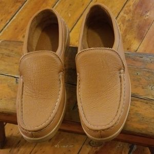 Minnetonka Brown Leather Driving Loafers Sz 10.5
